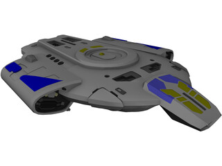 Star Trek USS Defiant 3D Model