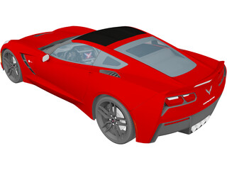 Chevrolet Corvette C7 Stingray (2014) 3D Model