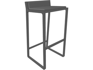 Bar Stool Joe 3D Model