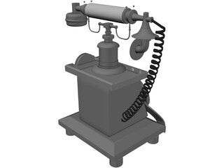 Crosley Old Phone 3D Model