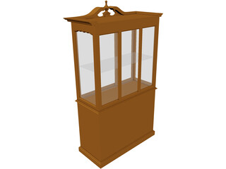 China Cabinet Queen Anne 3D Model