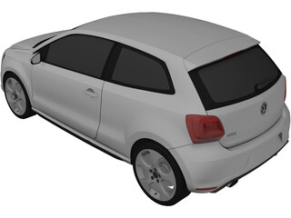 Volkswagen Polo GTi (2012) 3D Model