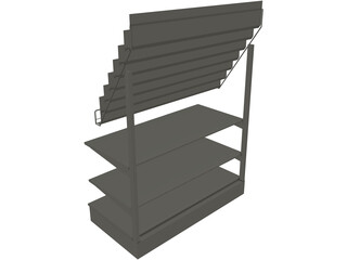 Comic Shelf 3D Model