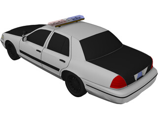 Ford Crown Victoria NYPD Police 3D Model