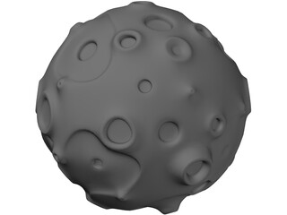 Toon Asteroid 3D Model