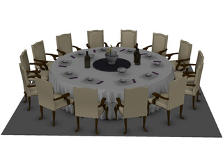Catering Table 3D Model
