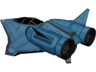 Aliens Spaceship 3D Model