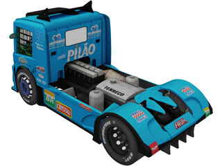 Scania G470 Muffatao Racing 3D Model