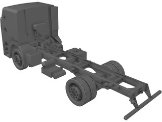 Iveco Light Truck Chassis 3D Model