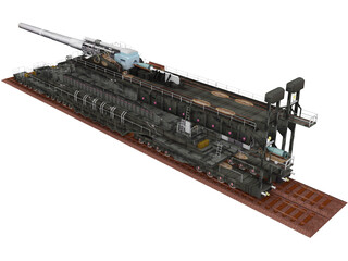 Dora Rail Gun 810mm 3D Model