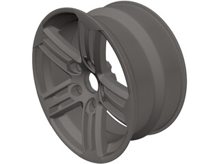 VW Scirocco Wheel Talladega 17 inch 3D Model
