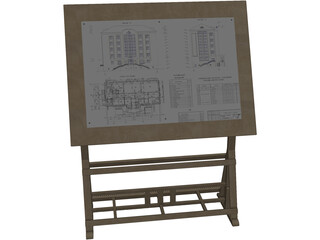 Drawing Board for Architects 3D Model