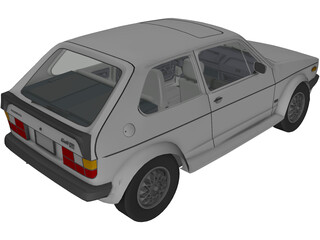Volkswagen Golf I GTi (1984) 3D Model