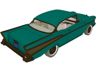 Chevrolet BelAir Sport Coupe (1957) 3D Model