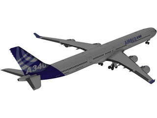 Airbus A340-600 Airliner  3D Model