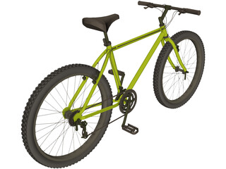 Bike Mountain Hardtail 3D Model