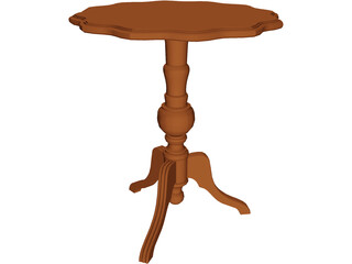 Table Tripod 3D Model