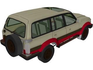 Toyota Land Cruiser (1980) 3D Model