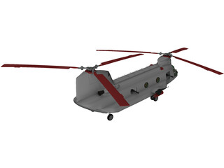 Boeing ACH-47 Chinook 3D Model