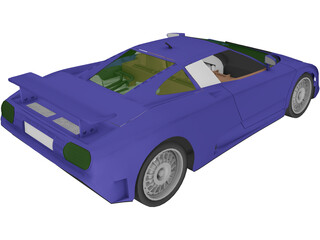 Bugatti EB110 Supersport (1992) 3D Model