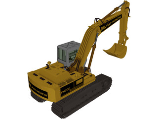 Excavator Fiat Hitachi FH200 3D Model
