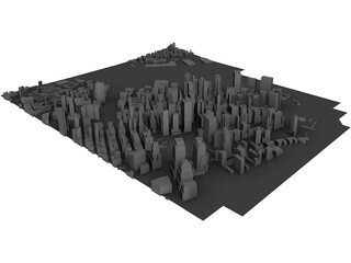 City Part Lower Manhattan (New York) 3D Model