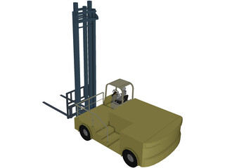 Forklift Boat 3D Model
