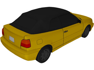 Volkswagen Golf III Cabriolet (1996) 3D Model