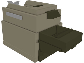 Office Printer-Fax Machine 3D Model