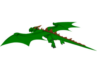 Little Green Dragon 3D Model