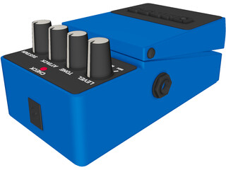 Boss CS3 Guitar Effects Pedal 3D Model