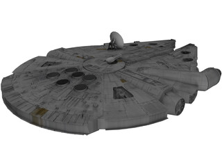 Star Wars Millenium Falcon 3D Model