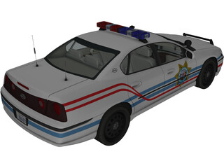 Chevrolet Impala Highway Patrol 3D Model