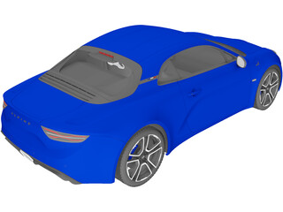 Renault Alpine A110 (2018) 3D Model