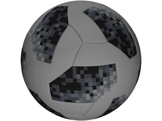 Russia Worldcup Soccer Ball 3D Model