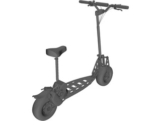 Go-Ped Motorized Scooter 3D Model
