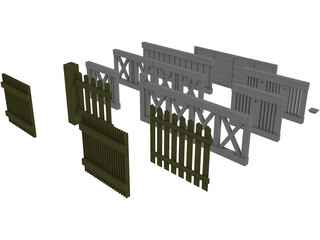 Fences Collection 3D Model
