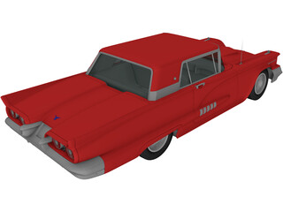 Ford Thunderbird (1958) 3D Model
