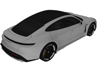 Porsche Taycan Turbo S (2020) 3D Model