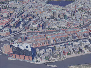 Hamburg City, Germany (2019) 3D Model