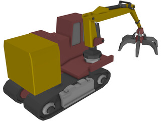 Car Wrecker Crane 3D Model