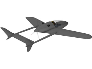 Small Turbine Single Seater 3D Model