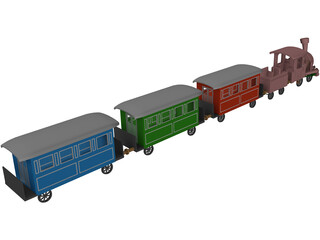 Ancient Train 3D Model