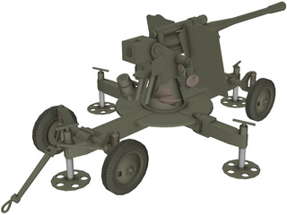 ZIS-52-K Cannon 3D Model
