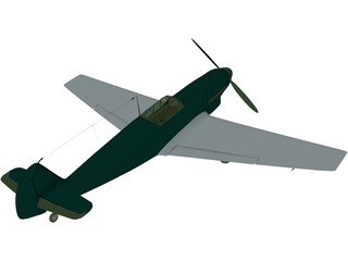Messerschmitt BF-109B 3D Model