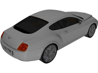 Bentley Continental GT Coupe 3D Model