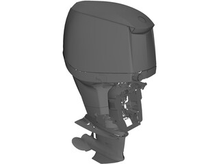 Outboat Engine 3D Model