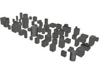 Buildings Collection 3D Model