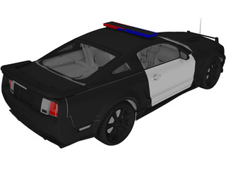 Ford Mustang Saleen Barricade 3D Model