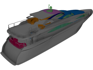 Sunseeker Yacht 3D Model